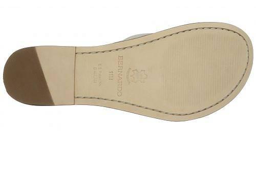 バーナードBernardoレディース女性用シューズ靴サンダルMiamiSandal-WhiteCalf/LuggageCalf