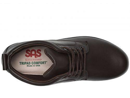 サスSASレディース女性用シューズ靴ブーツアンクルブーツショートGretchen-DarkBrown