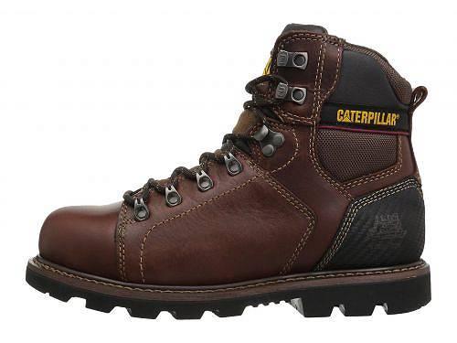 キャタピラーCaterpillarメンズ男性用シューズ靴ブーツ安全靴ワーカーブーツAlaska2.0SteelToe-Brown