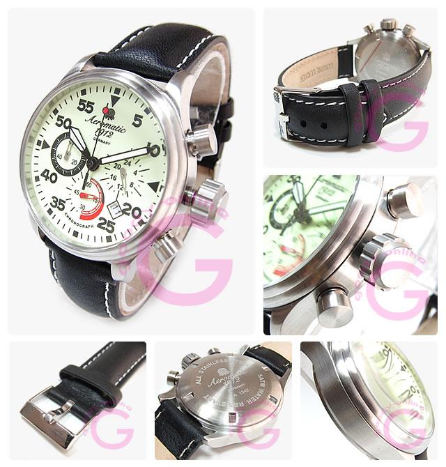 Aeromatic 1912 (エアロマティック1912) A1342 クロノグラフ ドイツミリタリー メンズウォッチ 腕時計