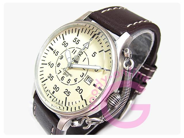 Aeromatic 1912 (エアロマティック1912) A1383 リューズガード ドイツミリタリー メンズウォッチ 腕時計
