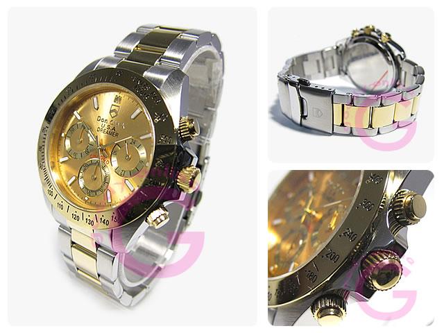 DON CLARK (ダンクラーク)  DM-2051-01GS クロノグラフ メンズウォッチ 腕時計