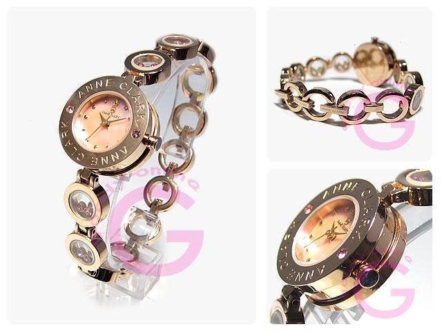 ANNE CLARK (アンクラーク) AT-1008-17PG ブレスタイプ ダイヤモンド レディースウォッチ 腕時計