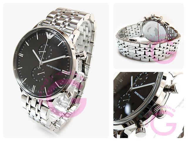 EMPORIO ARMANI / エンポリオアルマーニ AR0389 クラシック クロノグラフ メンズウォッチ 腕時計