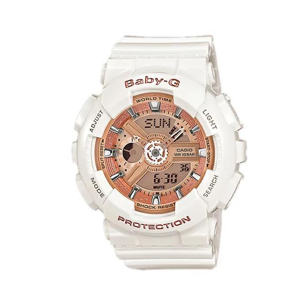 CASIO BABY-G (カシオ ベビーG) BA-110-7A1/BA110-7A1 アナデジ ホワイト/ゴールド レディース 腕時計 日本版型番:BA-110-7A1JF/BA110-7A1JF