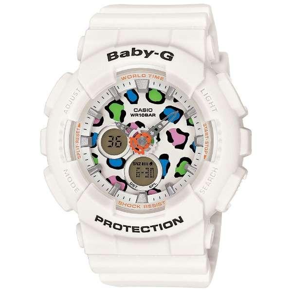 CASIO BABY-G (カシオ ベビーG) BA-120LP-7A1/BA120LP-7A1 LEOPARD SERIES/レオパード シリーズ アナデジ ホワイト レディースウォッチ 腕時計 (日本版型番:BA-120LP-7A1JF/BA120LP-7A1JF)