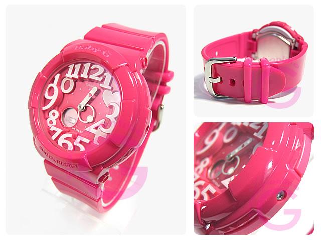 CASIO BABY-G (カシオ ベビーG/ベイビーG) BGA-130-4B ネオンダイアル ピンク レディースウォッチ 腕時計