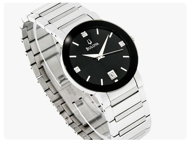 BULOVA (ブローバ) 96D18 ダイアモンド装飾 メンズウォッチ 腕時計