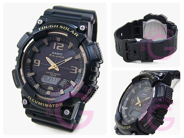 CASIO(カシオ) AQ-S810W-1A3/AQS810W-1A3 スポーツ タフソーラー ブラック キッズ・子供にオススメ! かわいい! メンズ/ユニセックスウォッチ 腕時計