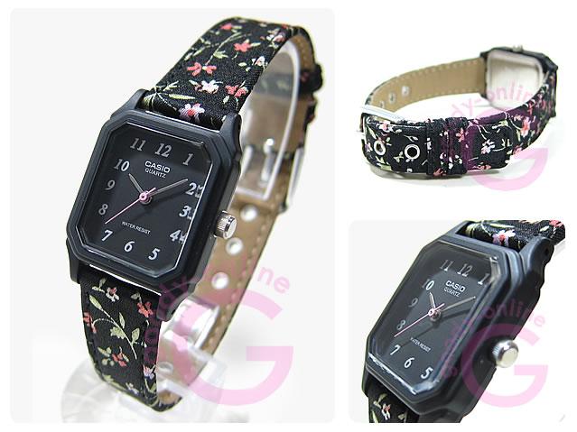 CASIO(カシオ) LQ-142LB-1B/LQ142LB-1B ベーシック アナログ フローラル 花柄 キッズ・子供 かわいい! レディースウォッチ チープカシオ 腕時計