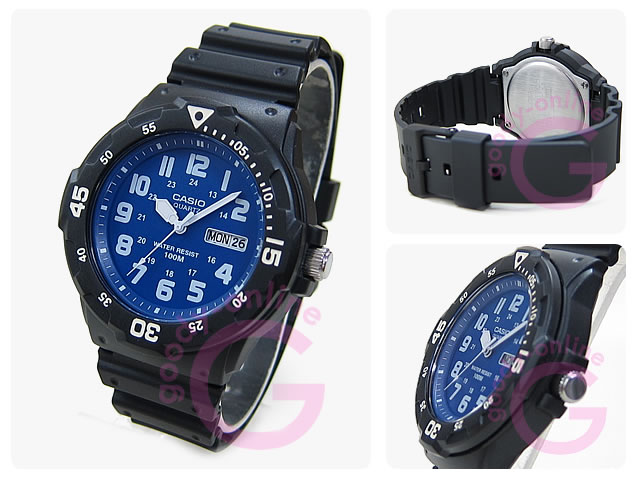 CASIO (カシオ) MRW-200H-2B2/MRW200H-2B2 スポーツギア ミリタリーテイスト ブルーインデックス ペアモデル キッズ・子供 かわいい! メンズウォッチ チープカシオ 腕時計