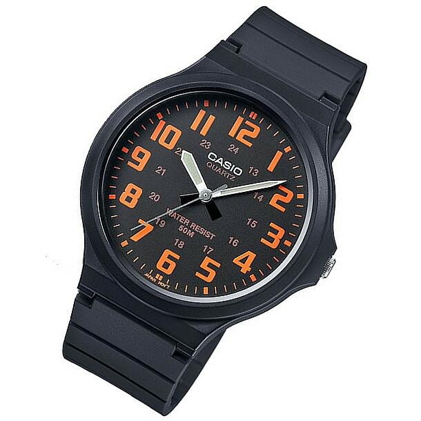 CASIO(カシオ) MW-240-4B/MW240-4B ベーシック アナログ オレンジ キッズ・子供 かわいい! メンズウォッチ チープカシオ 腕時計計
