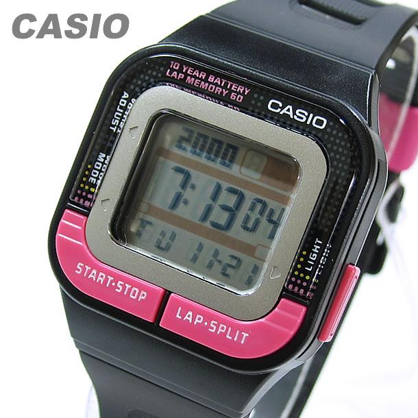 CASIO (カシオ) SDB-100-1B/SDB100-1B スポーツギア デジタル ピンク×ブラック キッズ・子供にオススメ! かわいい! ユニセックスウォッチ 腕時計