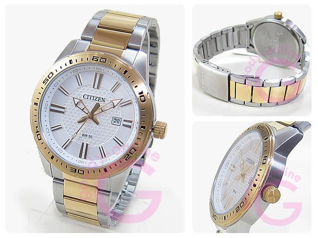CITIZEN (シチズン) BI1064-51A メタルベルト ゴールド×シルバー コンビ メンズウォッチ チープシチズン チプシチ 腕時計