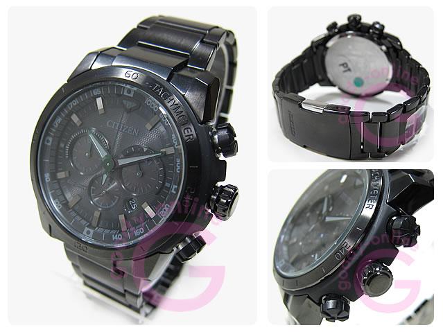 CITIZEN (シチズン) CA4184-81E EcoDrive/エコドライブ ソーラー クロノグラフ オールブラック メタルベルト メンズウォッチ 腕時計