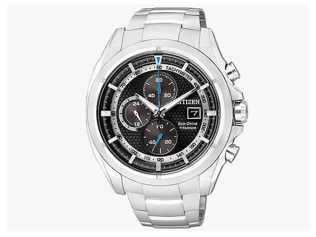 CITIZEN/シチズン CA0551-50E EcoDrive/エコドライブ ソーラー クロノグラフ チタン メンズウォッチ 腕時計
