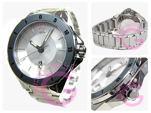 Calvin Klein/カルバンクライン CK Play/プレイ K2W21Y46/K2W21Y.46 メタルベルト メンズウォッチ 腕時計