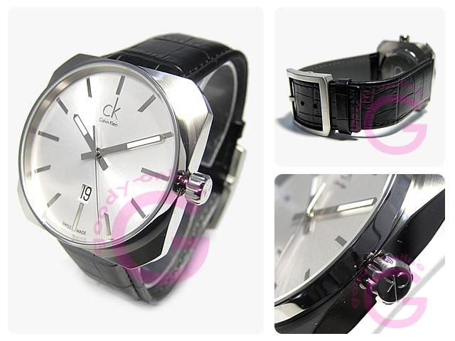 Calvin Klein / カルバンクライン CK K1R211.20/K1R21120 レザーベルト メンズウォッチ 腕時計