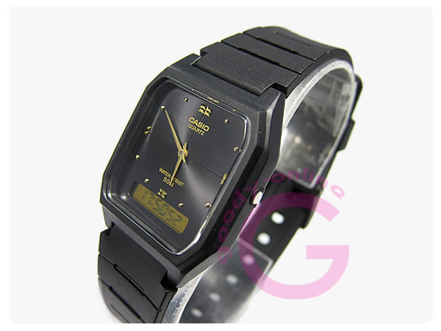 CASIO(カシオ) AW-48HE-1/AW48HE-1 シンプルデジタル アナデジ ユニセックスウォッチ 腕時計