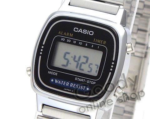 腕時計【CASIO(カシオ) シンプルデジタル LA-670WA-1UW/LA670WA-1UW シルバー レディースウォッチ 腕時計】