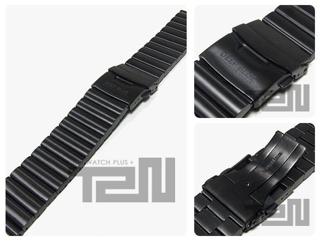 DEEP BLUE (ディープブルー) 【26MM 185MM】 26PVD-DEFENDER 316L ステンレス 腕時計用