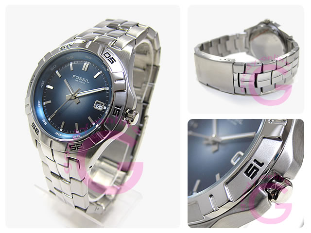 FOSSIL (フォッシル) AM3996 ブルー カジュアル メンズウォッチ 腕時計