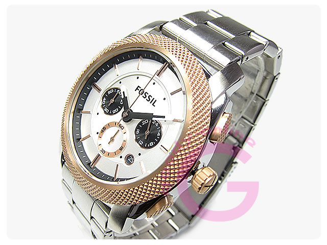 FOSSIL (フォッシル) FS4714 MACHINE/マシン クロノグラフ メタルベルト メンズウォッチ 腕時計