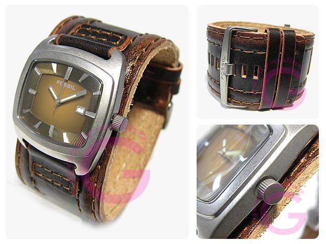 FOSSIL (フォッシル) JR9156 レザーベルト カジュアル メンズウォッチ 腕時計