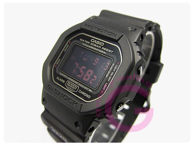 CASIO G-SHOCK(カシオ Gショック) DW-5600MS-1 マットブラック レッドアイ メンズウォッチ 腕時計