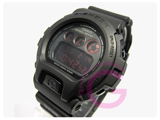 CASIO G-SHOCK(カシオ Gショック) DW-6900MS-1 マットブラック レッドアイ メンズウォッチ 腕時計