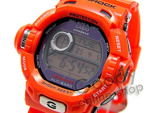 腕時計【CASIO G-SHOCK(Gショック) G-9200R-4DR/G9200R-4DR RISEMAN/ライズマン タフソーラー レスキューオレンジ メンズウォッチ 腕時計】