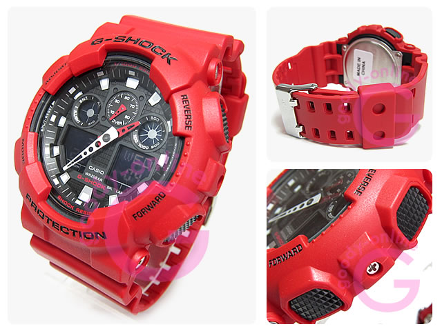 CASIO G-SHOCK(カシオ Gショック) GA-100B-4A/GA100B-4A アナデジコンビ 速度計測 メンズウォッチ 腕時計