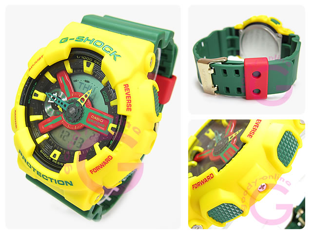 CASIO G-SHOCK(カシオ Gショック)  GA-110RF-9A/GA110RF-9A ラスタファリアン アナデジ メンズウォッチ 腕時計