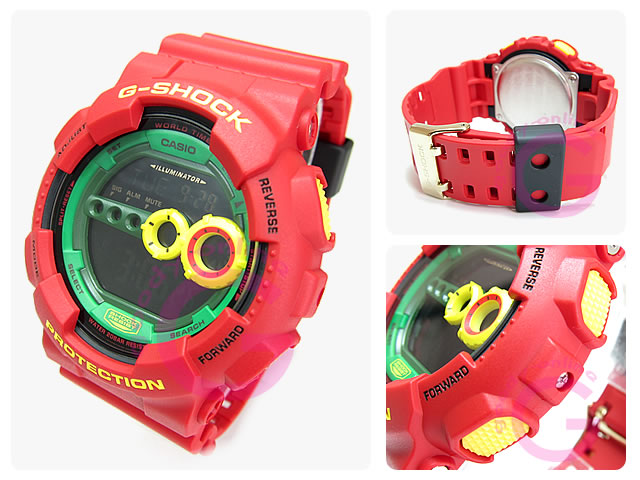 CASIO G-SHOCK(カシオ Gショック)  GD-100RF-4/GD100RF-4 ラスタファリアン メンズウォッチ 腕時計