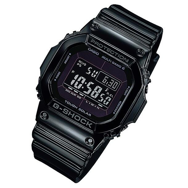 CASIO G-SHOCK(カシオ Gショック) GW-M5610BB-1/GWM5610BB-1 Grossy Black Series/グロッシー・ブラックシリーズ マルチバンド6 タフソーラー メンズウォッチ 腕時計