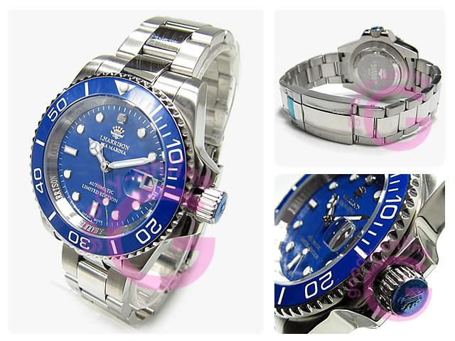 J.HARRISON(ジョンハリソン) JH-019SBL 自動巻き 日本製ムーブメント搭載 ダイヤモンドインデックス 腕時計