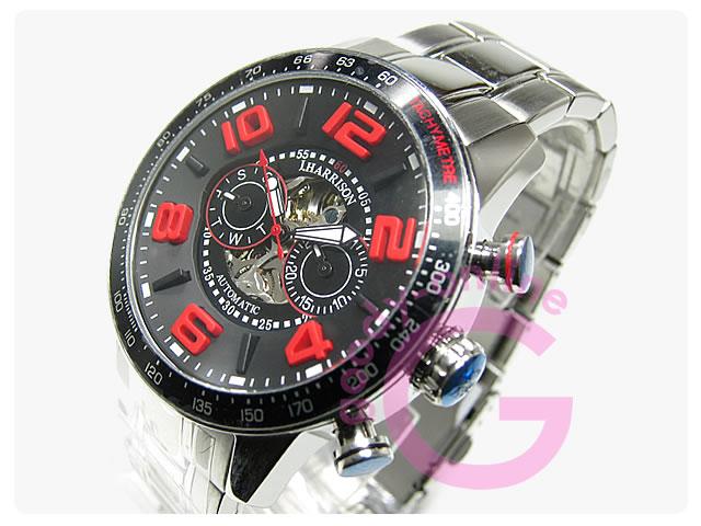 J.HARRISON(ジョンハリソン) JH-020BR 自動巻き 3Dインデックス マルチファンクションカレンダー 腕時計