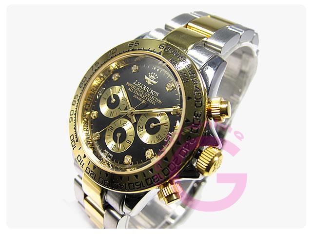 J.HARRISON(ジョンハリソン) JH-014DG 自動巻き ダイヤモンド8P メンズウォッチ 腕時計