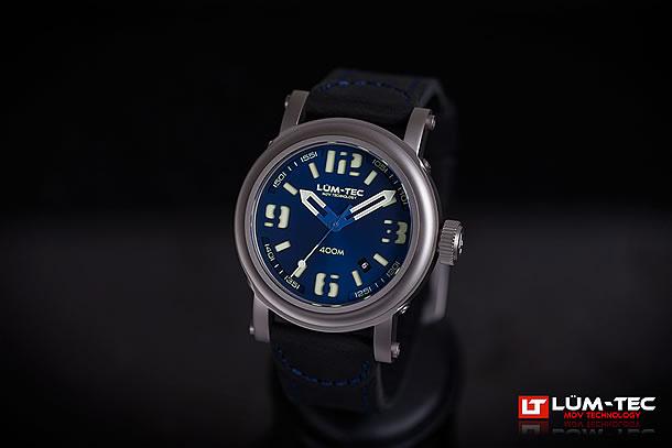 LUM-TEC (ルミテック)Abyss 400M-2 400Mシリーズ Miyota 9015自動巻き ムーブメント搭載 チタンカーバイドPVD ネイビー メンズウォッチ 腕時計
