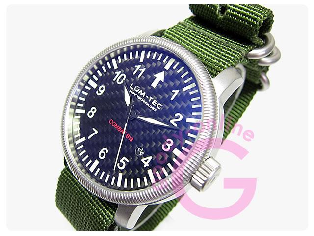 LUM-TEC(ルミテック) Combat-B13 自動巻き ミリタリー メンズウォッチ 腕時計
