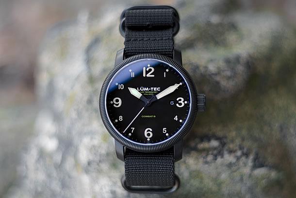 LUM-TEC (ルミテック)コンバット Combat B36 クォーツ スイス製 Ronda 515ムーブメント採用 チタニウムカーバイドPVDハードコート ミリタリー 腕時計