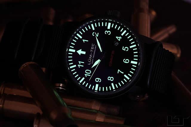 LUM-TEC(ルミテック) Combat-B6 自動巻き ミリタリー チタンPVD メンズウォッチ 腕時計