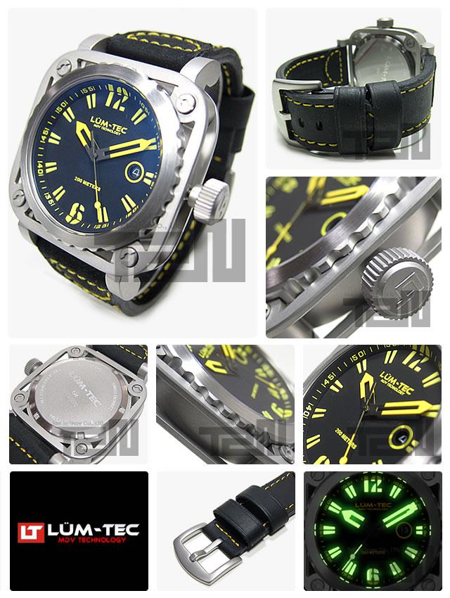 LUM-TEC(ルミテック) G4 Gシリーズ ロンダクォーツ搭載 レザーベルト メンズウォッチ 腕時計