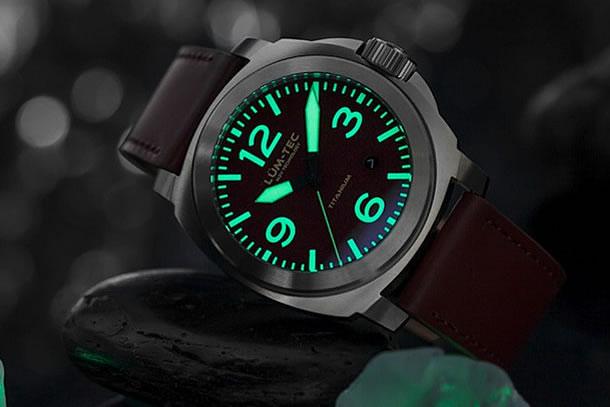 LUM-TEC (ルミテック)M77 チタニウム 44mm 自動巻き スイス製ETA 2824-2ムーブメント採用 メンズウォッチ 腕時計