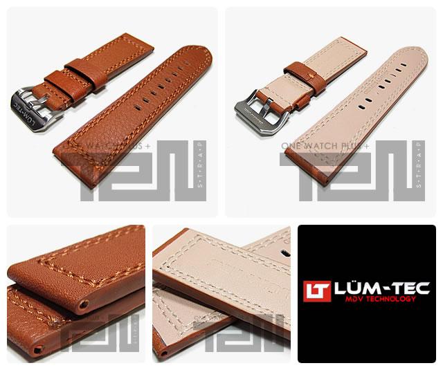 LUM-TEC(ルミテック) 【24/22MM 120/80】 ST308-24 レザーベルト 替えベルト 腕時計用