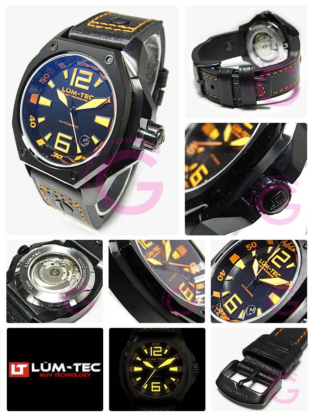 LUM-TEC(ルミテック) v2 Vシリーズ 自動巻き ETAムーブメント メンズウォッチ 腕時計