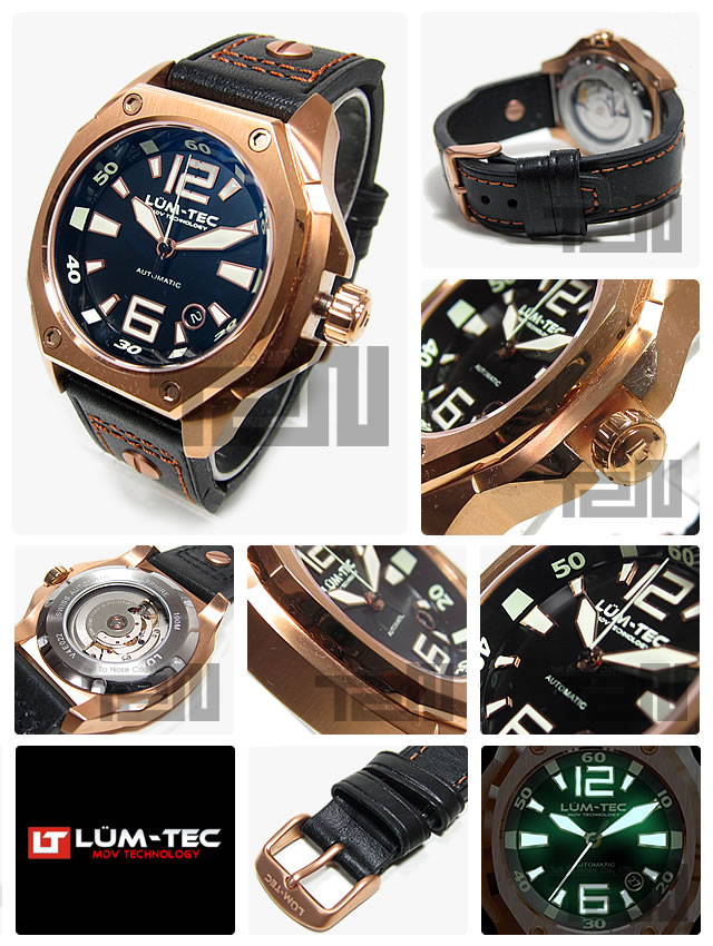 LUM-TEC(ルミテック) V4 Vシリーズ 自動巻き ETAムーブメント メンズウォッチ 腕時計
