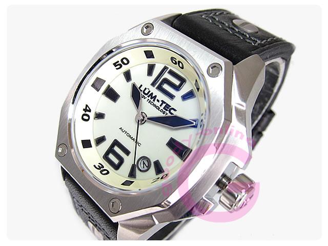 LUM-TEC(ルミテック) V5 Vシリーズ 自動巻き 文字盤全面蓄光 メンズウォッチ 腕時計