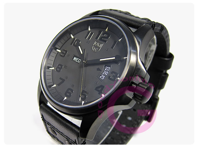 LUMINOX(ルミノックス)  1879BO フィールドスポーツ ブラックアウト レザーベルト メンズウォッチ 腕時計