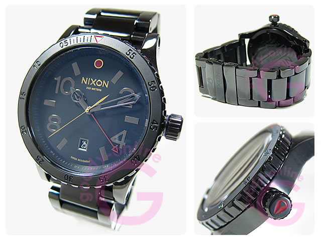 NIXON(ニクソン) A277-1883】A2771883 DIPLOMAT SS ALL BLACK POLISHED/GOLD ディプロマット GMT メンズウォッチ 腕時計